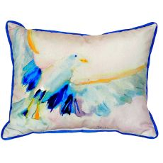 Flying Gull Small Indoor/Outdoor Pillow 11X14