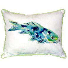 Blue Koi Small Indoor/Outdoor Pillow 11X14