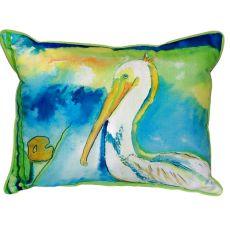 White Pelican Small Indoor/Outdoor Pillow 11X14