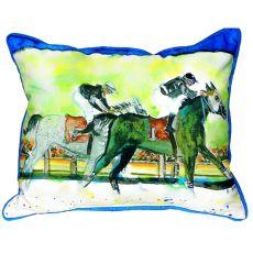 Close Race Small Indoor/Outdoor Pillow 11X14