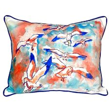 Gulls Flocking Small Indoor/Outdoor Pillow 11X14
