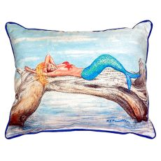 Mermaid On Log Small Indoor/Outdoor Pillow 11X14