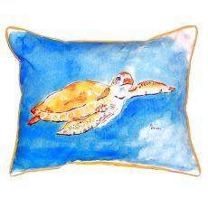 Brown Sea Turtle Small Indoor/Outdoor Pillow 11X14