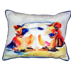 Hippo Small Indoor/Outdoor Pillow 11X14