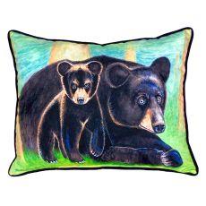 Bear & Cub Small Indoor/Outdoor Pillow 11X14