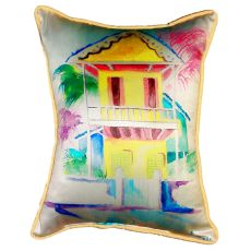 W. Palm Hut Yellow Small Indoor/Outdoor Pillow 11X14
