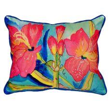 Pink Amaryllis Small Indoor/Outdoor Pillow 11X14