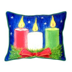 Christmas Candles Small Indoor/Outdoor Pillow 11X14