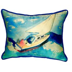 Sailboat Small Indoor/Outdoor Pillow 11X14