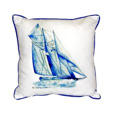 Blue Sailboat Small Indoor/Outdoor Pillow 12X12