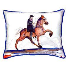Brown Walking Horse Small Indoor/Outdoor Pillow 11X14
