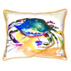 Green Crab Small Indoor/Outdoor Pillow 11X14