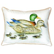 Mallard Family Small Indoor/Outdoor Pillow 12X12