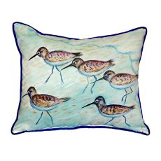 Sandpipers Small Indoor/Outdoor Pillow 12X12