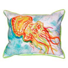 Orange Jellyfish Small Indoor/Outdoor Pillow 11X14