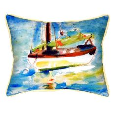 Yellow Sailboat Small Indoor/Outdoor Pillow 11X14