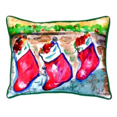 Christmas Stockings Small Indoor/Outdoor Pillow 11X14