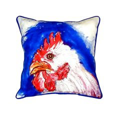 Rooster Head Small Indoor/Outdoor Pillow 12X12