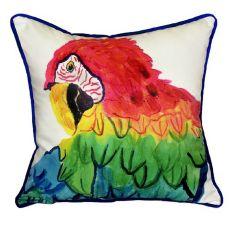 Parrot Head Small Indoor/Outdoor Pillow  12X12