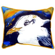 Gull Portrait Left Small Indoor/Outdoor Pillow 11X14