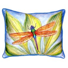 Dick'S Dragonfly Small Indoor/Outdoor Pillow 11X14