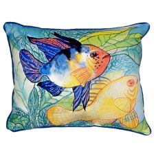 Betsy'S Two Fish Small Indoor/Outdoor Pillow 11X14