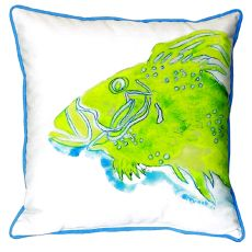 Green Fish Small Indoor/Outdoor Pillow 12X12