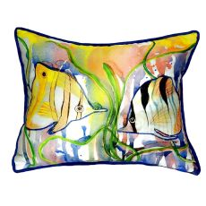 Angel Fish Small Indoor/Outdoor Pillow 11x14
