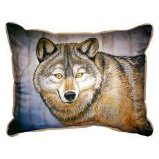 Grey Wolf Small Indoor/Outdoor Pillow 11X14