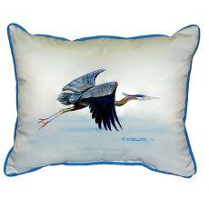 Eddie'S Blue Heron Small Indoor/Outdoor Pillow 11X14
