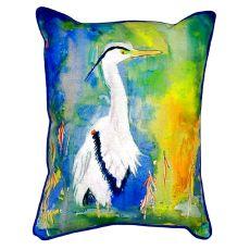D&B'S Blue Heron Small Indoor/Outdoor Pillow 11X14