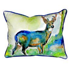 Betsy'S Deer Small Indoor/Outdoor Pillow 11X14