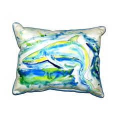 Green Shark Small Indoor/Outdoor Pillow 11X14