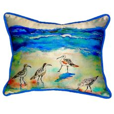 Betsy'S Sandpipers Small Indoor/Outdoor Pillow 11X14