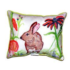 Brown Rabbit Left Small Indoor/Outdoor Pillow 11X14