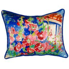 Hollyhocks Small Indoor/Outdoor Pillow 11X14