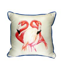 Two Flamingos Small Indoor/Outdoor Pillow 12X12