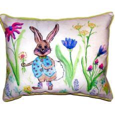 Happy Bunny Small Indoor/Outdoor Pillow 11X14