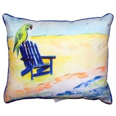 Parrot & Chair Small Indoor/Outdoor Pillow 11X14