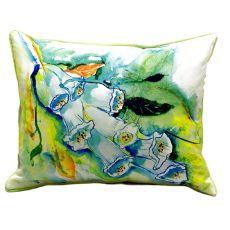 Foxgloves Small Indoor/Outdoor Pillow 11X14