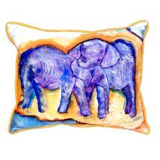 Elephants Small Indoor/Outdoor Pillow 11X14