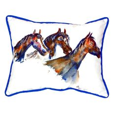 Three Horses Small Indoor/Outdoor Pillow 11X14