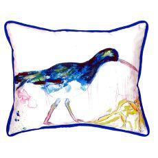 Black Shore Bird Small Indoor/Outdoor Pillow 11X14