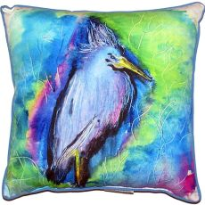 Little Blue Heron Small Indoor/Outdoor Pillow 12X12