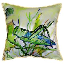 Grasshopper Small Indoor/Outdoor Pillow 12X12