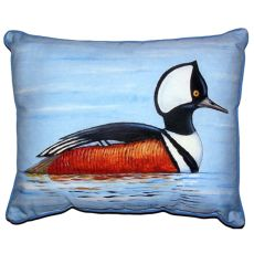 Hooded Merganser Small Indoor/Outdoor Pillow 11X14