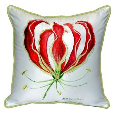 Red Lily Small Indoor/Outdoor Pillow 12X12