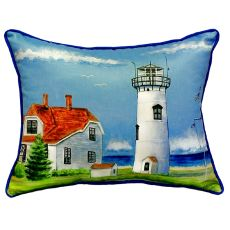 Chatham Ma Lighthouse Small Indoor/Outdoor Pillow 12X12
