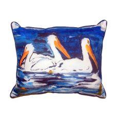 Three Pelicans Small Indoor/Outdoor Pillow 11X14