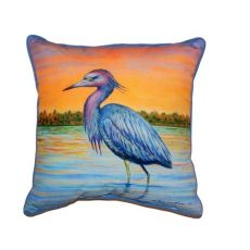 Heron & Sunset Small Indoor/Outdoor Pillow 12X12